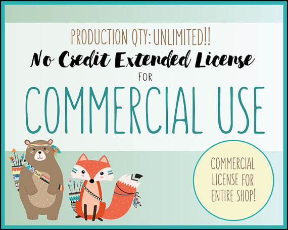 Extended License for Commercial Use of ALL CLIPART SETS.
