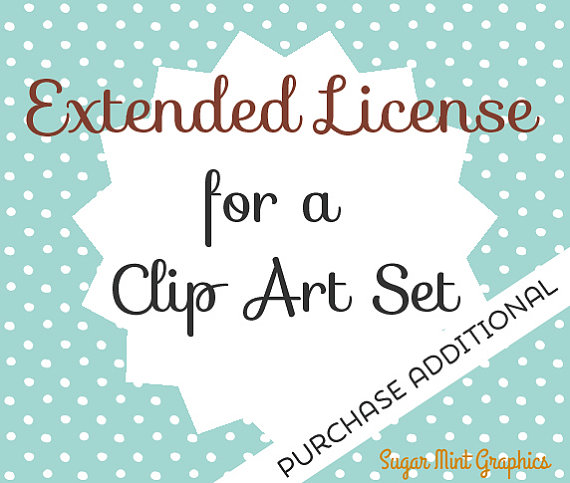 Extended License Clipart Clip Art Commercial Use Handdrawn from.