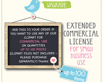 Extended License for Watercolor Clipart.