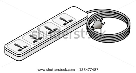 Extension cord clipart.