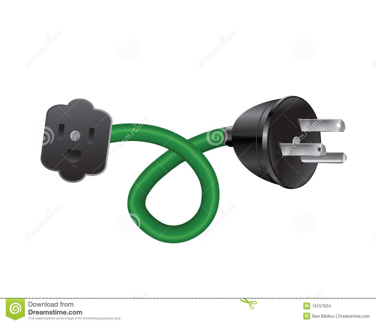 Extension Cord Stock Illustrations.