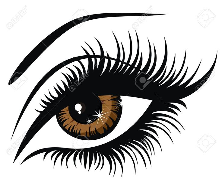 Eyelash extensions clipart.