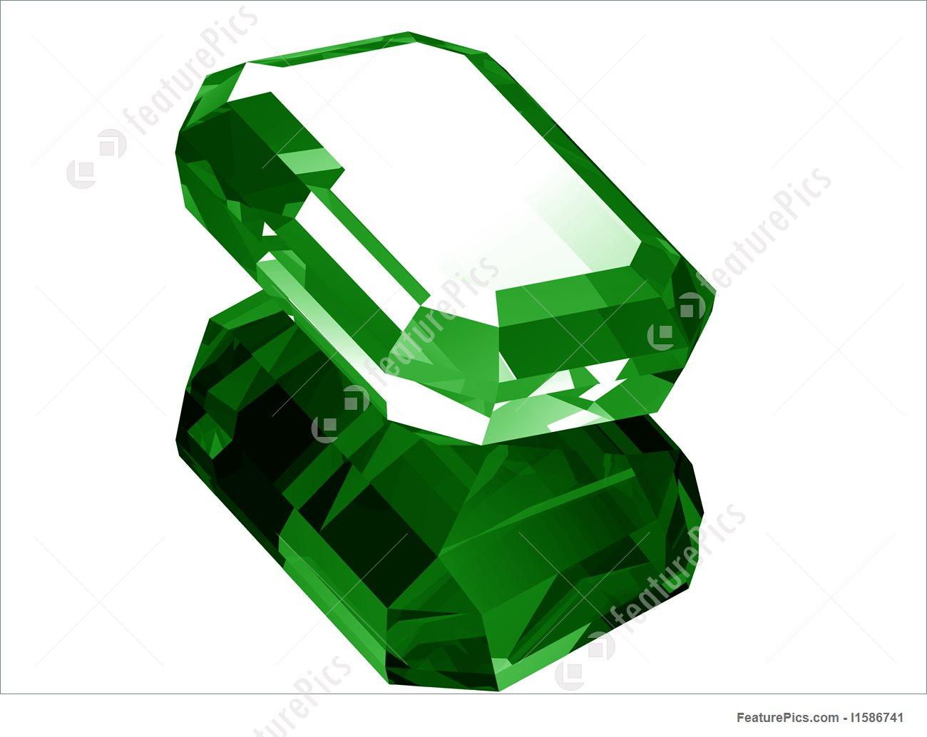 Illustration Of 3D Emerald.