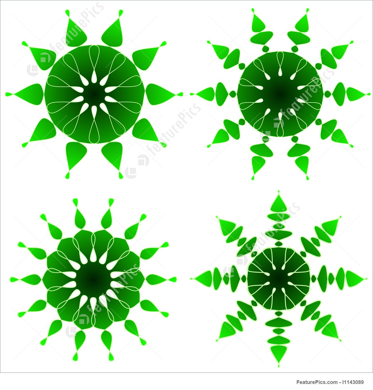 Abstract Forms: Emerald Designs.