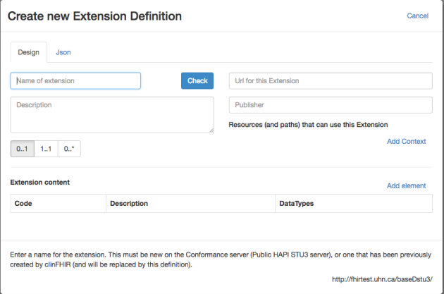 Building an Extension Definition.