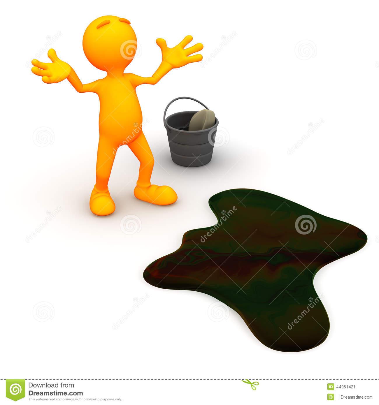 Oil spill clipart.