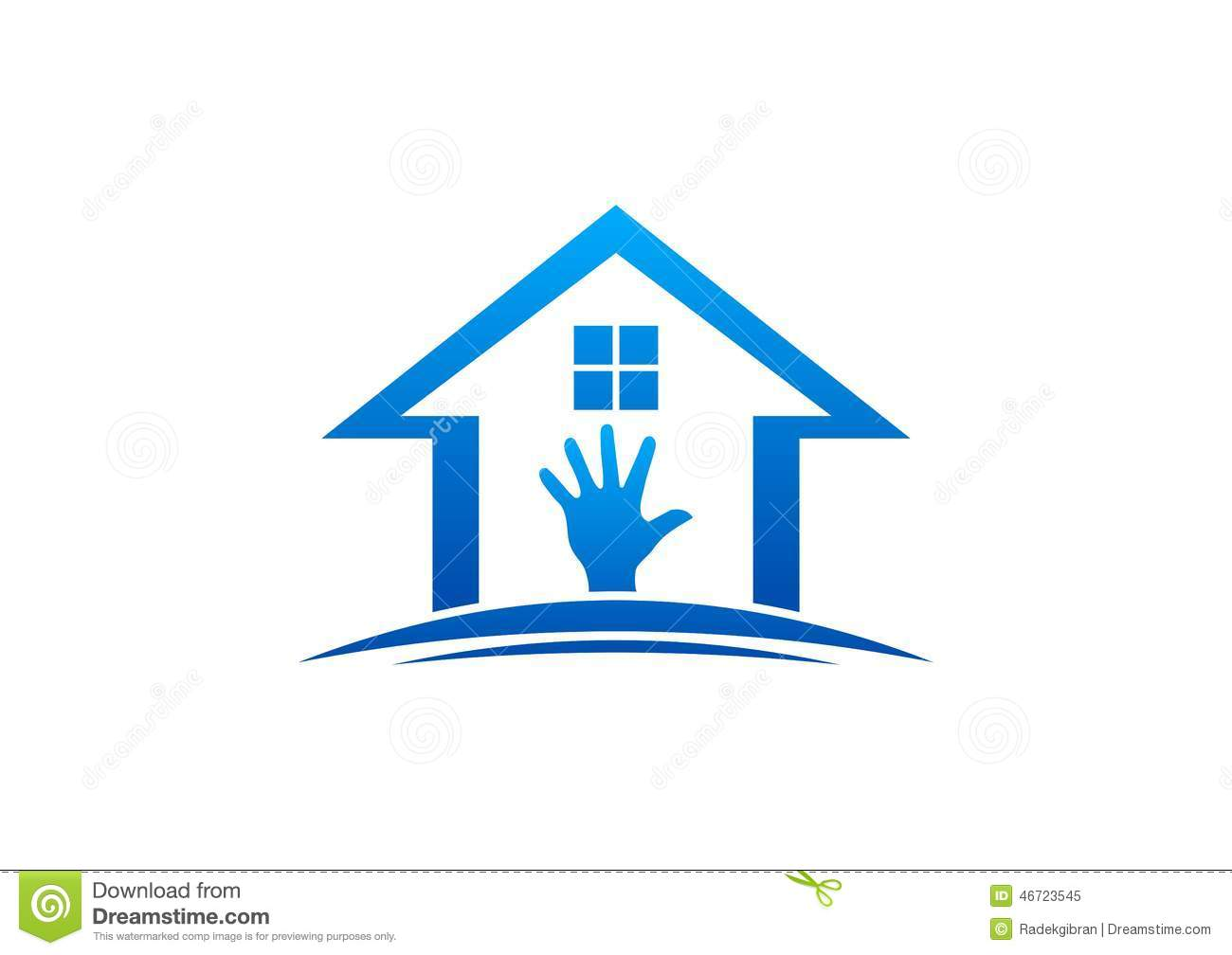House And Hand Logo,home Work,interior And Exterior Home,care.