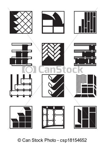 Clipart Vector of Interior and exterior decoration.