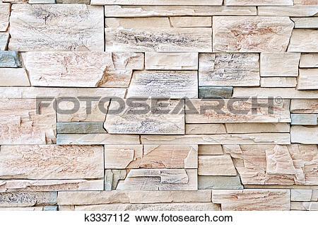 Stock Photo of brick stone exterior and interior decoration.