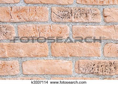 Stock Photo of Light yellow brick stone exterior and interior.