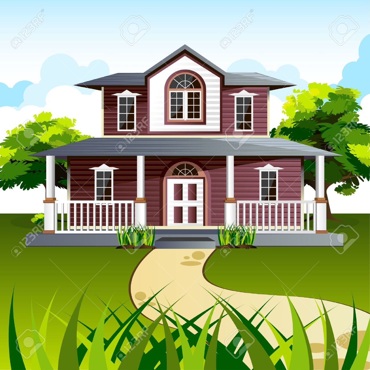 Exterior house clipart.