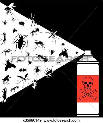 Clip Art of pest control spray k35980149.
