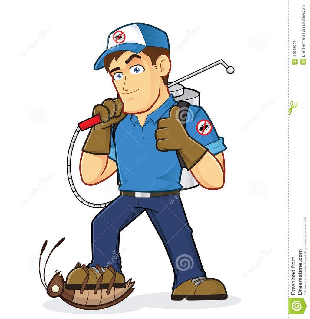Pest Control Clipart Picture Exterminator Coon.