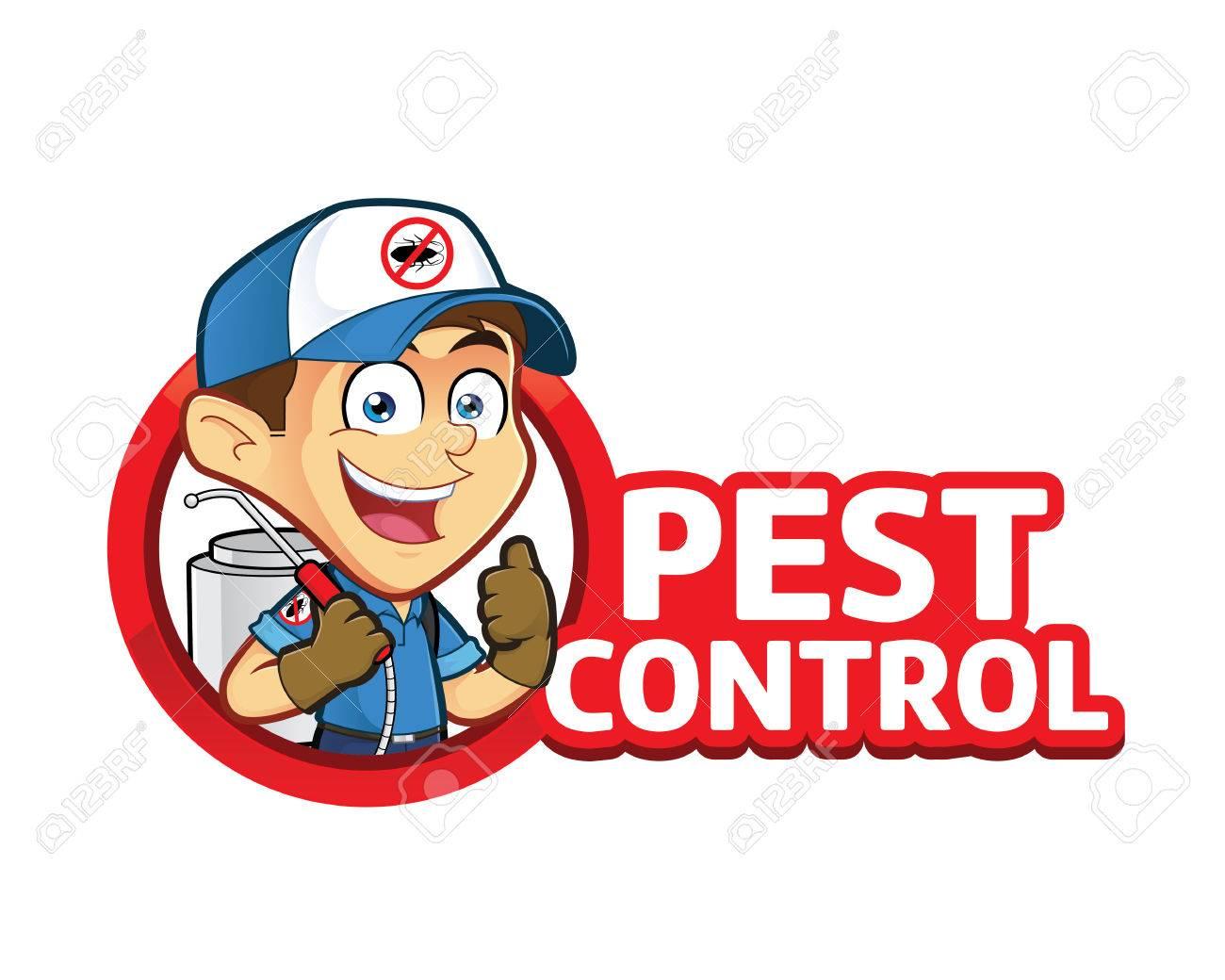 Exterminator or pest control with logo.