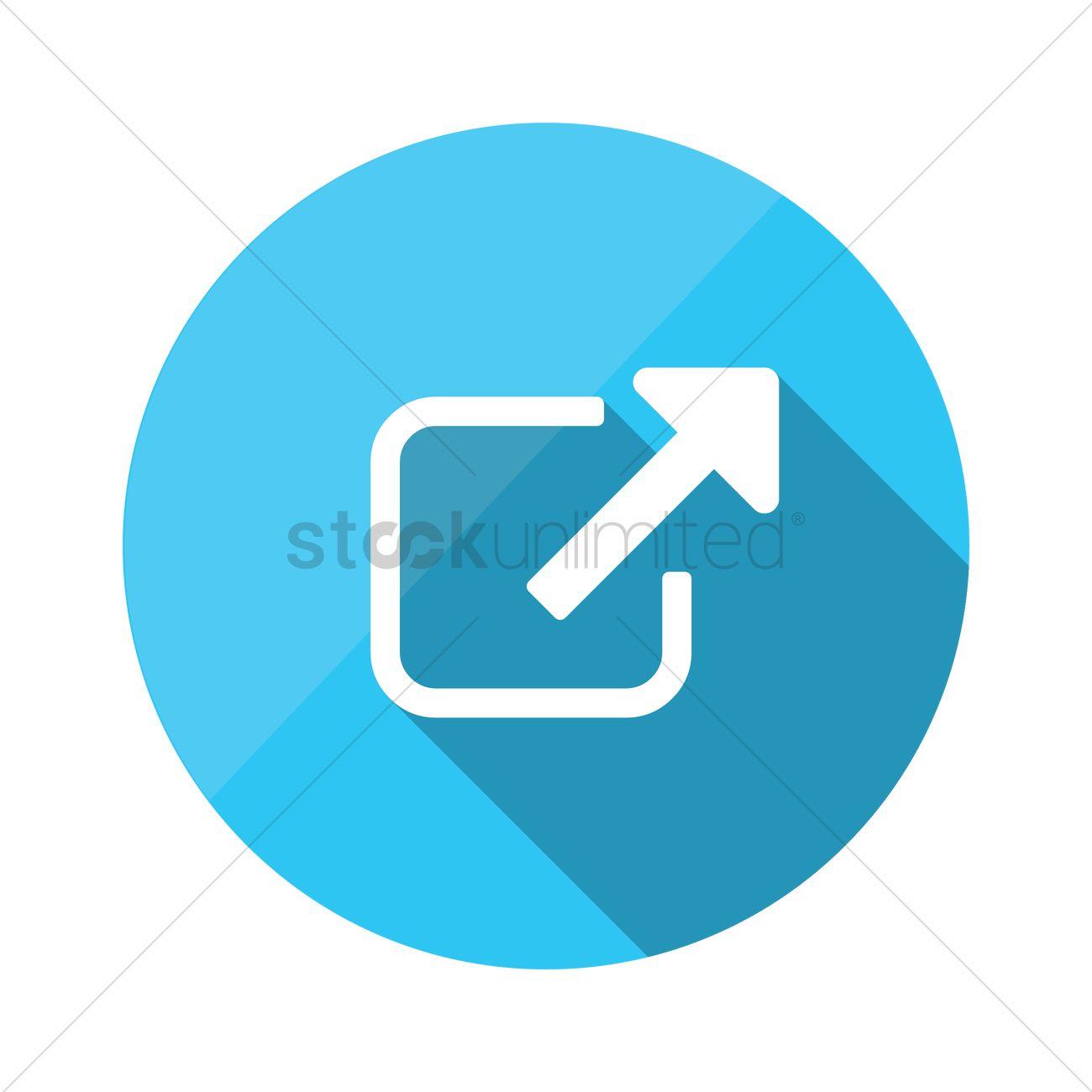 External link url icon Vector Image.