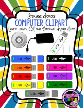 Memory Storage Devices Clipart.
