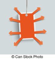 Orange price sticker arrows externally Illustrations and Stock Art.
