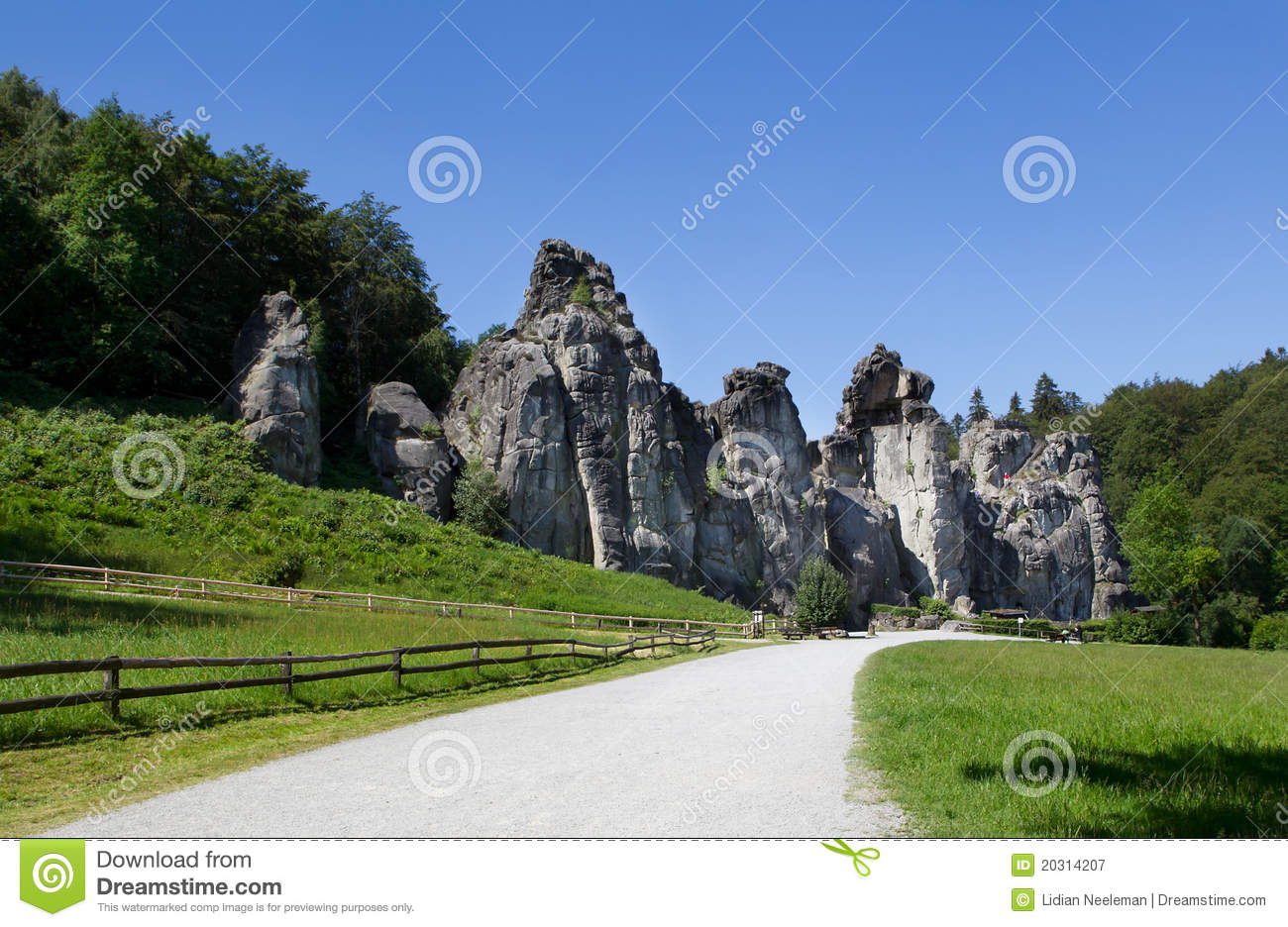 Externsteine, Horn Royalty Free Stock Photography.