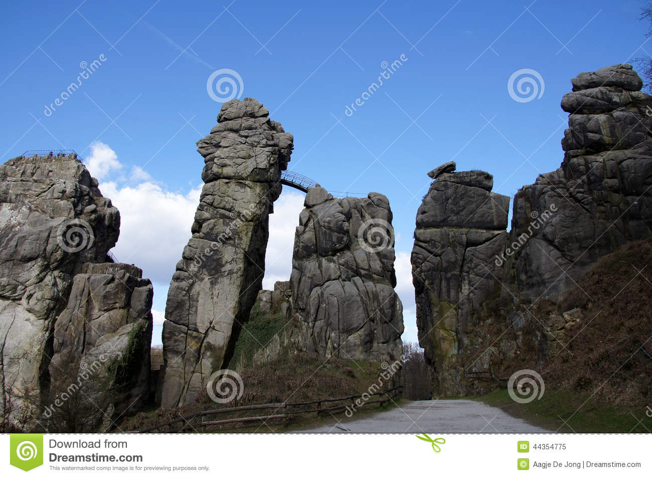 Externsteine Germany Stock Photo.