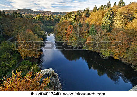 "Stock Photography of ""View from Externsteine on Wiembecketeich."