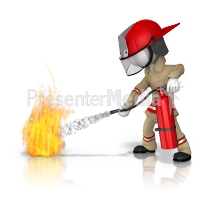 Firefighter Fire Extinguish.
