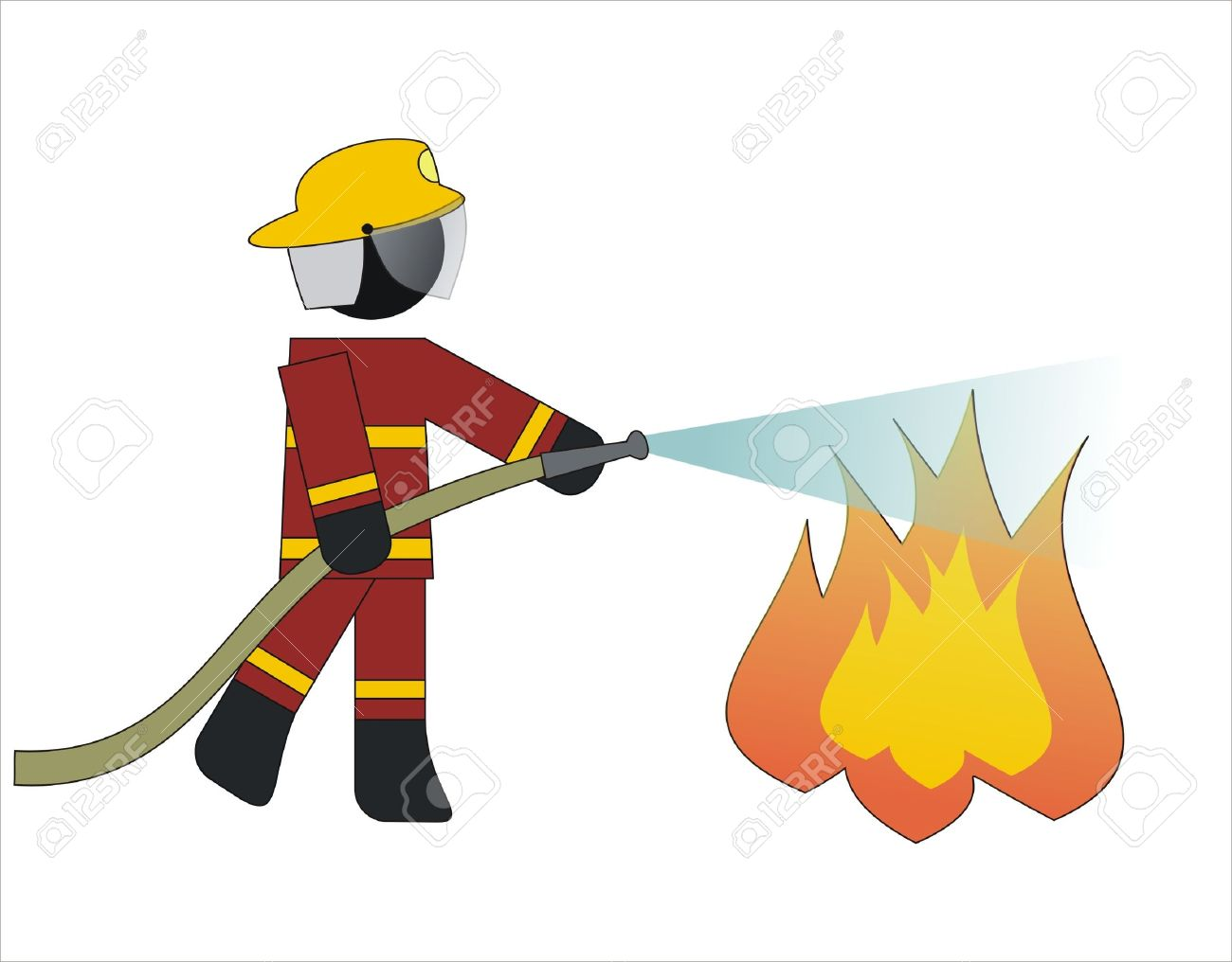 Put out fire clipart.