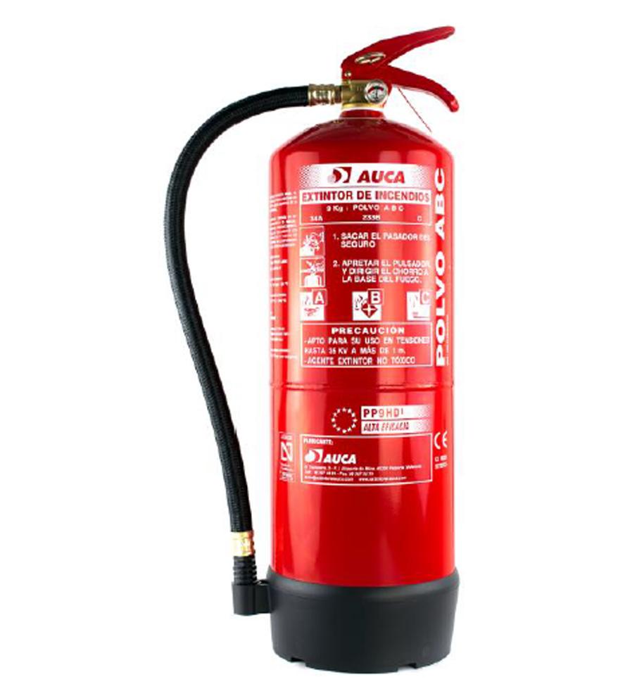Extintor de 9 kg de polvo PP9HDI.