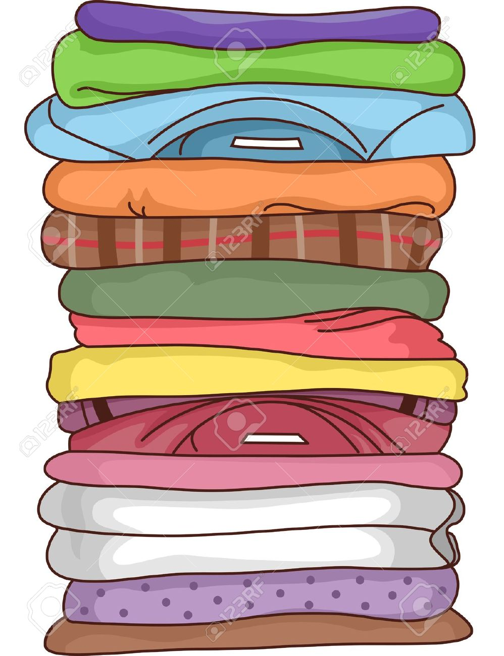 Shirts clipart stack, Shirts stack Transparent FREE for.