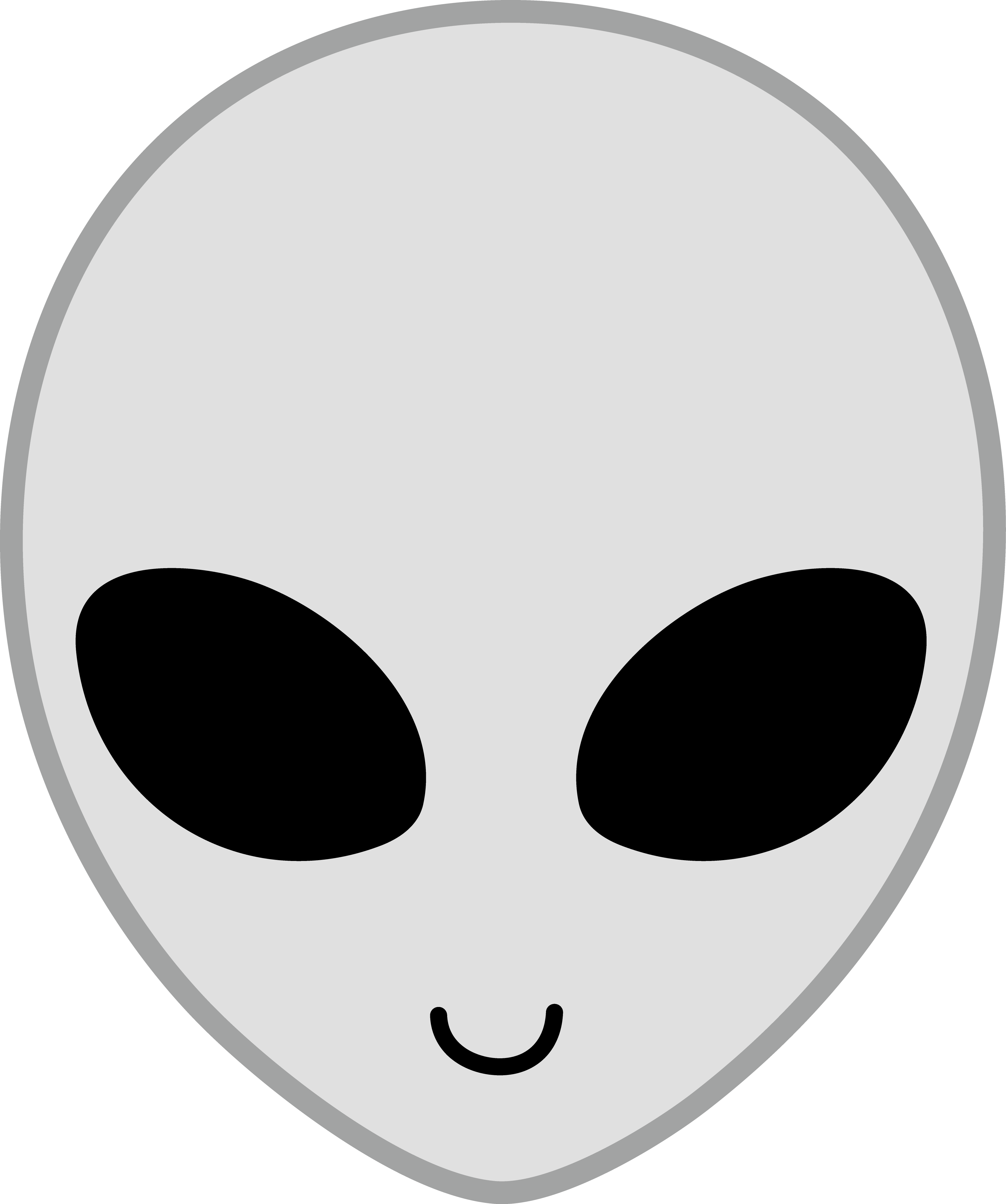 Happy Grey Alien Face.