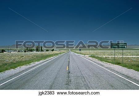Stock Photo of Extraterrestrial Highway at Rachel, Nevada jgk2383.
