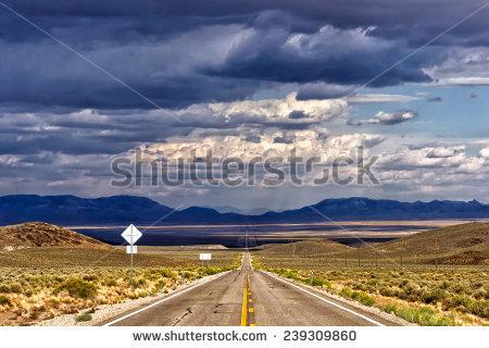 Extraterrestrial Highway Stock Photos, Royalty.