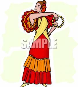 Image: An Extravagant Flamenco Dancer.