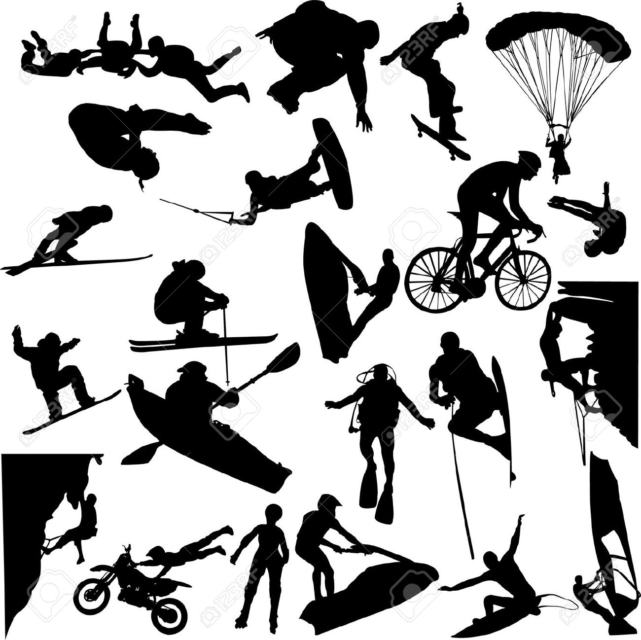 Extreme sports clipart free.
