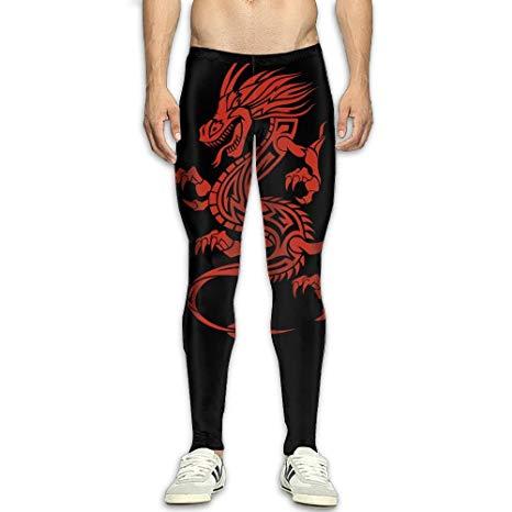 Amazon.com : Mens Dragon Clipart Compression Pants Sport.