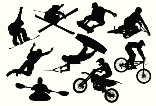 Extreme sports clipart.