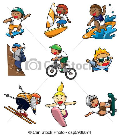 Extreme sport clipart #19