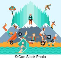 Extreme sports Illustrations and Clip Art. 30,356 Extreme sports.