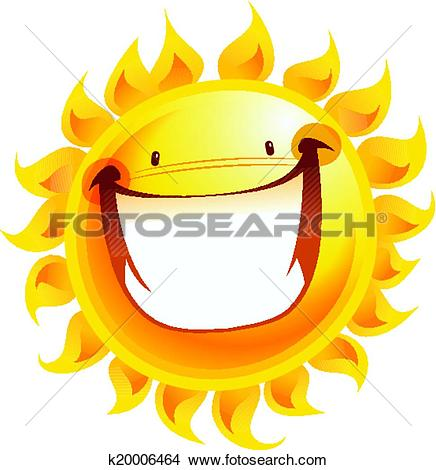 Clipart of Extremely happy yellow smiling sun cartoon excited.