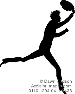 Clipart Illustration of Simple Vintage Style Silhouette of a Man.