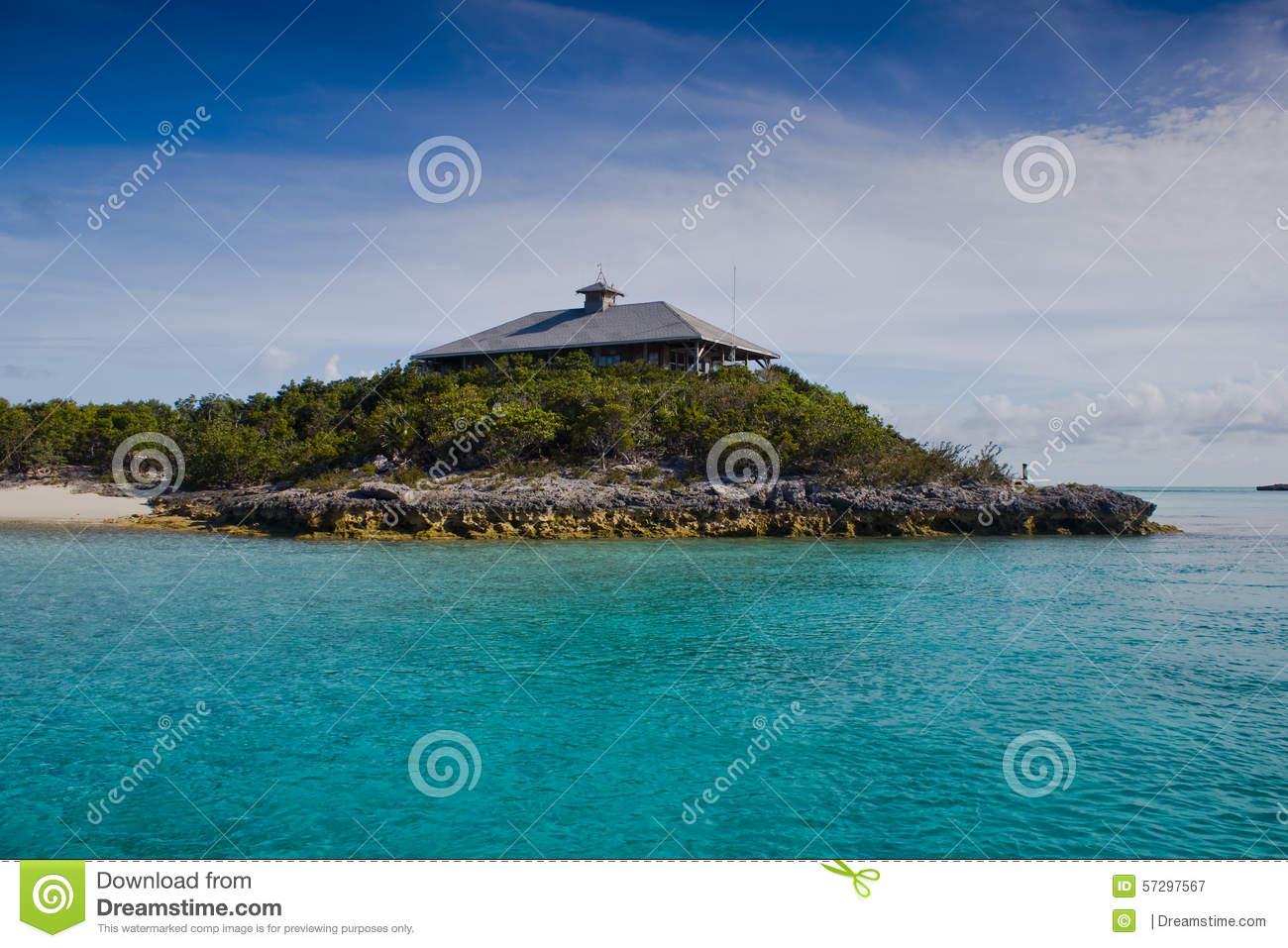 National Park Office, Exuma Bahamas Stock Photo.