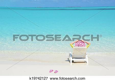Picture of Beach scene, Great Exuma, Bahamas k19742127.