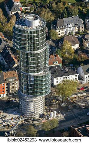 "Stock Photo of ""Aerial view of the Exzenterhaus building, built on."