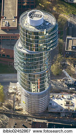 """Picture of """"Aerial view of the Exzenterhaus building, an office."""
