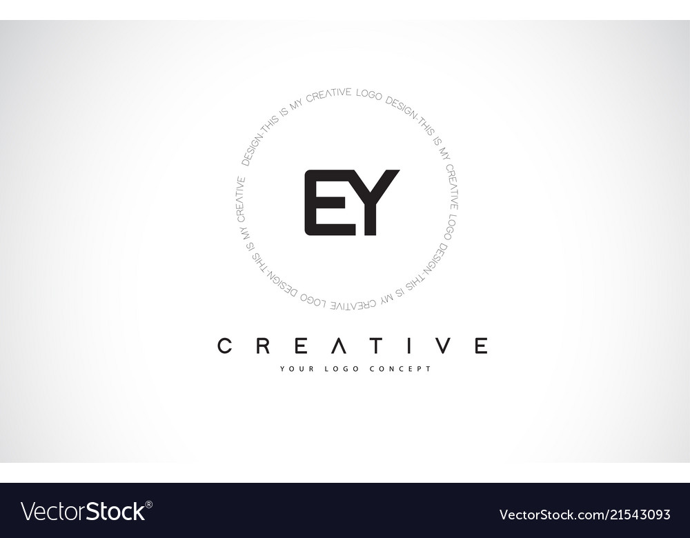 Ey e y logo design with black and white creative.