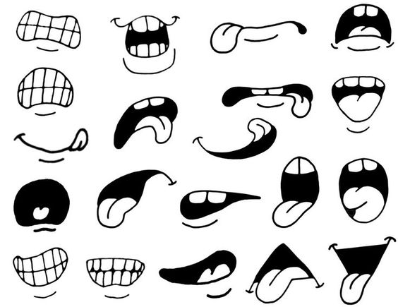 Cartoon Eyes And Mouth Clipart #1.