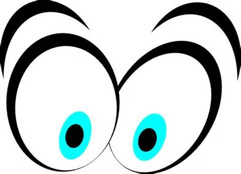 Funny eyeballs clipart.
