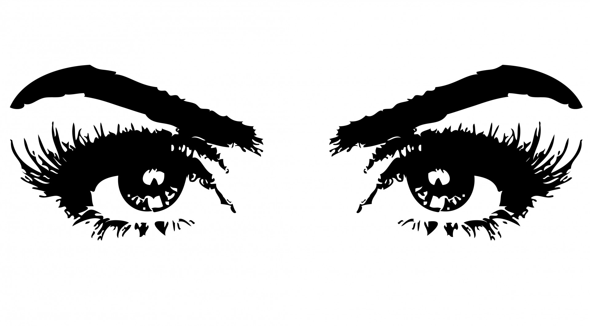 Eyes With Eyebrows Clipart.