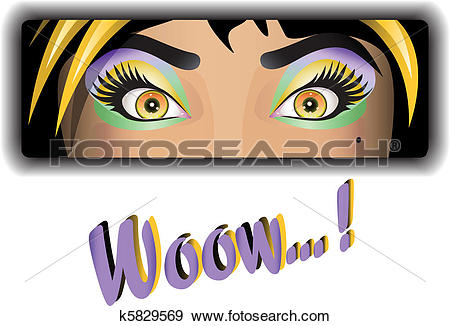 Clip Art of eye catcher girl k5829569.
