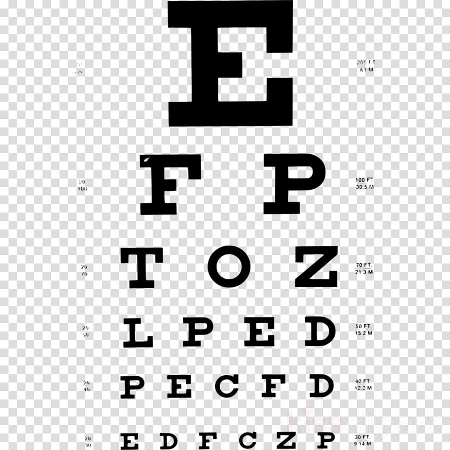 Eye Chart, Snellen Chart, Eye Examination, transparent png image.