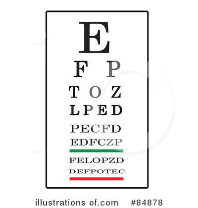 Eye Chart Clipart #84878.